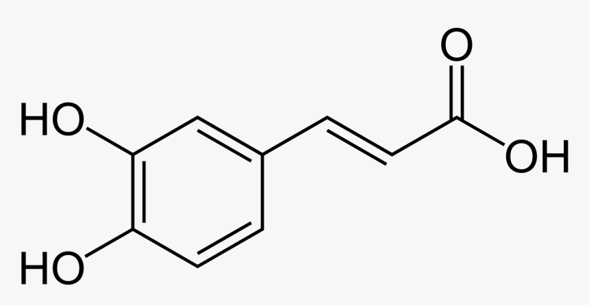 Caffeine Molecule Png , Png Download - Caffeic Acid, Transparent Png, Free Download