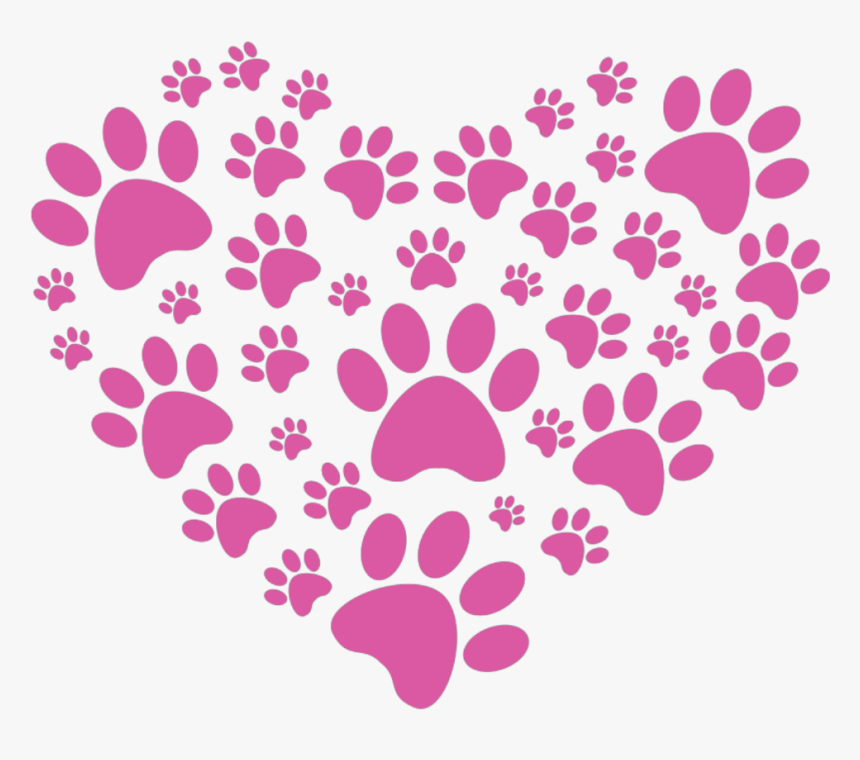 #puppylove #heart #pawprint - Lit Bit Of Love Rescue, HD Png Download, Free Download