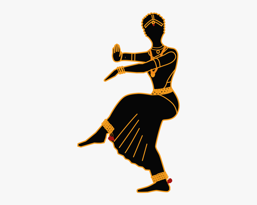 Frames Illustrations Hd Images Indian Classical Dance Silhouette Hd Png Download Kindpng