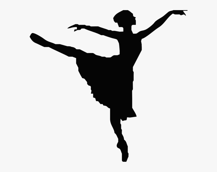 Black And White Dancer Clipart Ballet Dancer Silhouette Hd Png Download Kindpng