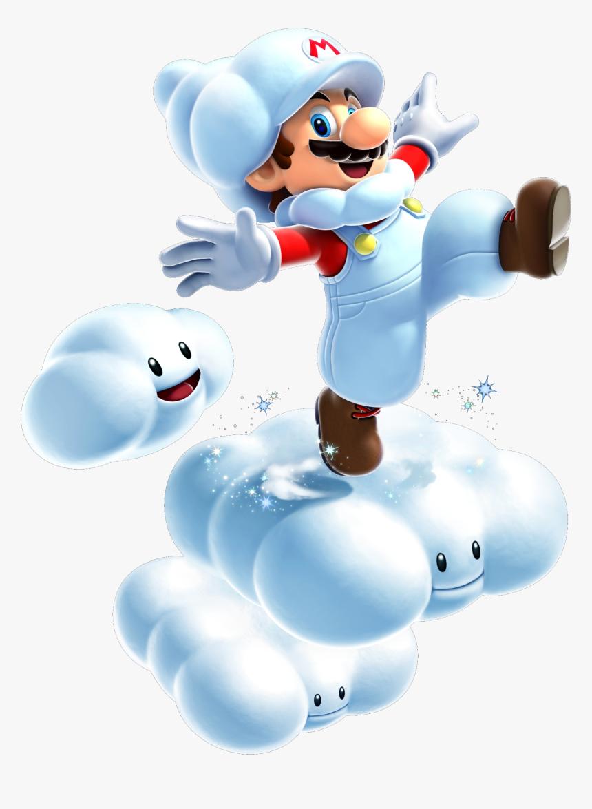 Mario-cloud - Super Mario Galaxy 2 Cloud Mario, HD Png Download, Free Download