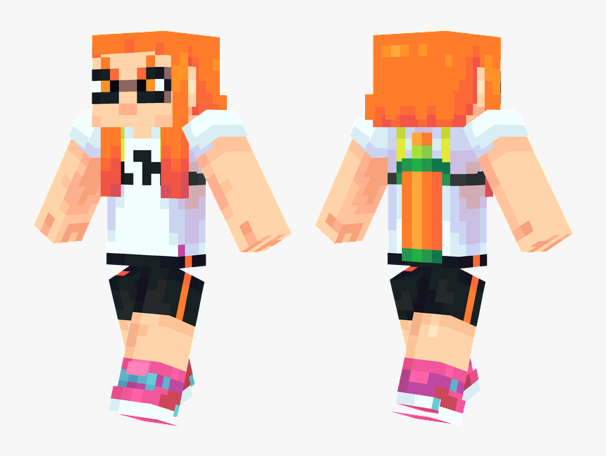 Splatoon Inkling Girl Minecraft Skin, HD Png Download, Free Download