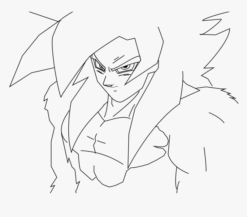 Goku Ssj4 Lineart Png Download Goku Ssj4 Drawing Easy