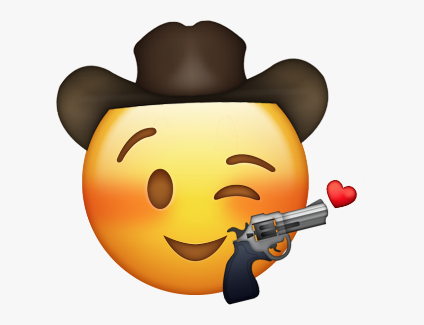 Let Me Hear You Say Yeehaw - Cowboy Emoji With Gun, HD Png Download, Free Download