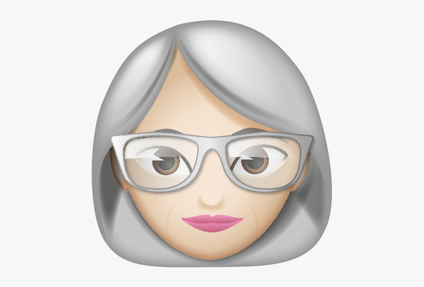 Woman Emoji With Glasses, HD Png Download, Free Download
