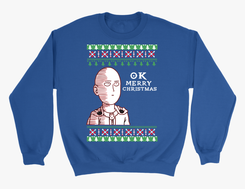 One Punch Man - Anime Christmas Shirts, HD Png Download, Free Download