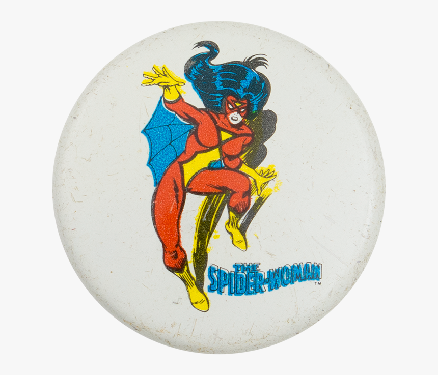 The Spider-woman Entertainment Button Museum - Cartoon, HD Png Download, Free Download