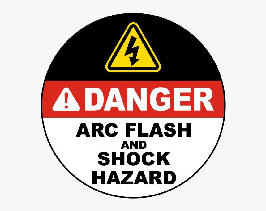 Danger Arc Flash And Shock Hazard Floor Sign - Traffic Sign, HD Png Download, Free Download