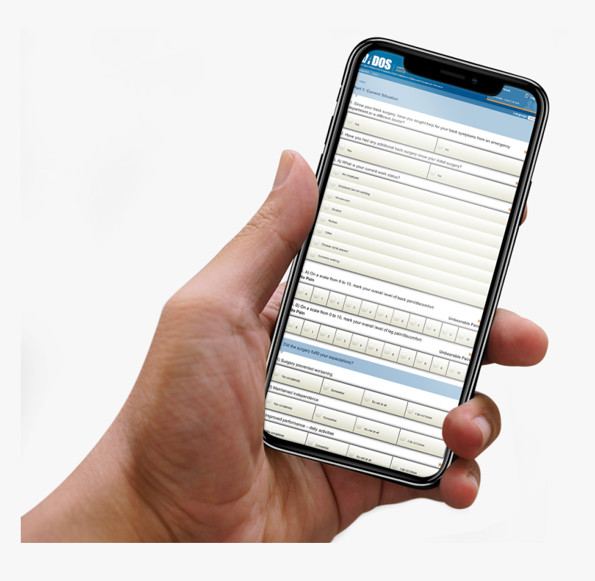 Dados, Home, Dados Electronic Data Capture Platform - Hand With Iphone X Mockup, HD Png Download, Free Download