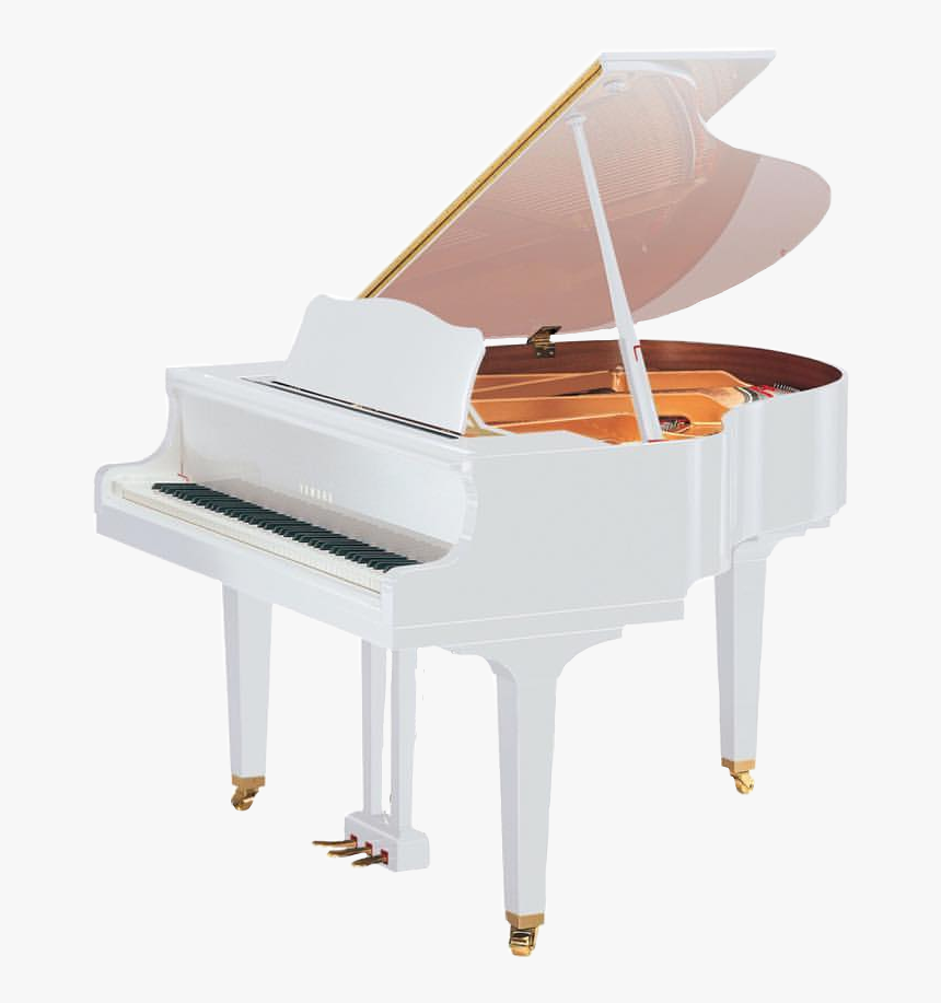 #png #piano #classic #white #music #instrument #grandpiano - White Yamaha Grand Piano, Transparent Png, Free Download