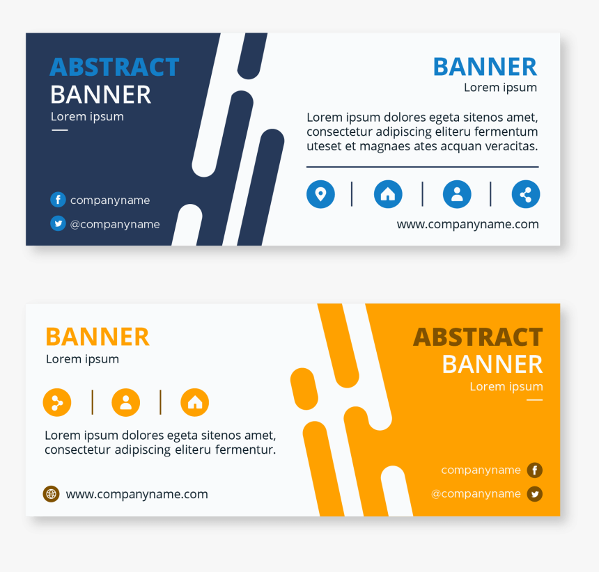 Transparent Abstract Banner Png - Twitter Banners For Business, Png Download, Free Download