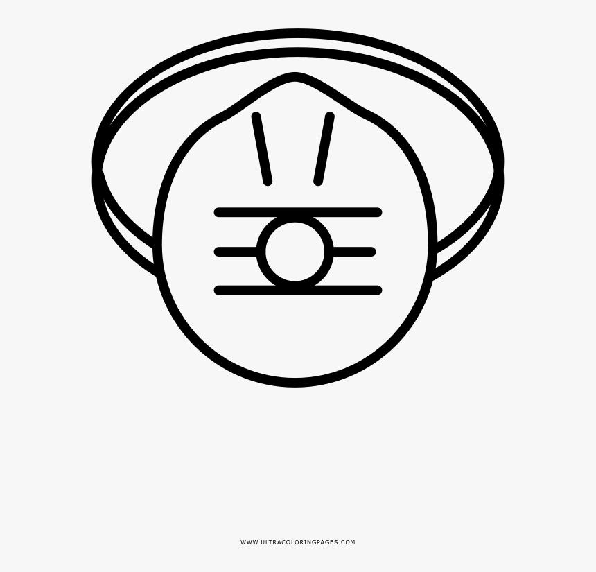 Máscara De Gas Página Para Colorear - Circle, HD Png Download, Free Download