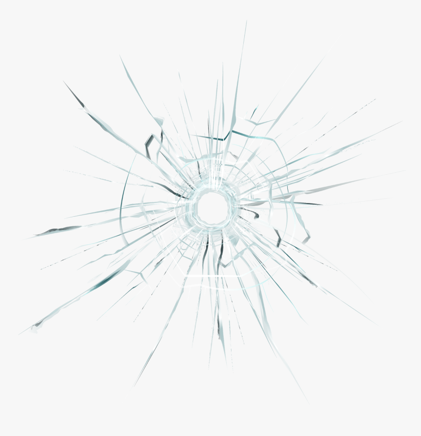 Cracked Glass Overlay - Circle, HD Png Download, Free Download