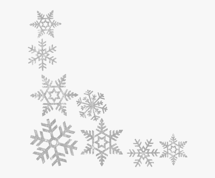 Transparent Christmas Border Clipart Black And White - Transparent Background Snowflake Border, HD Png Download, Free Download