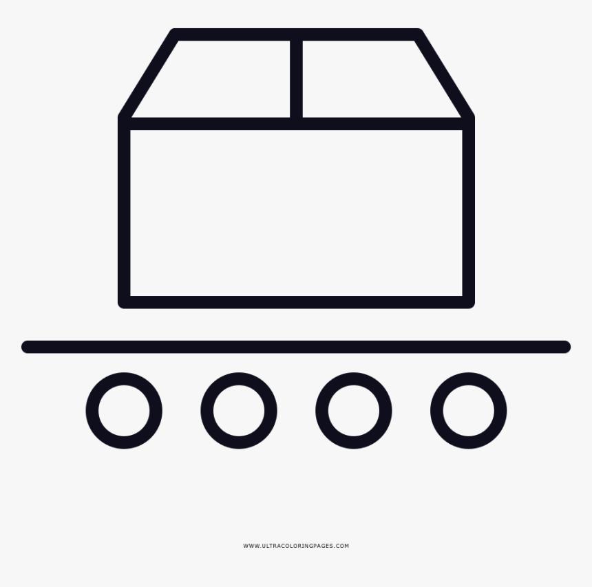 Conveyor Belt Coloring Page - Grab Food Logo Black And White, HD Png Download, Free Download
