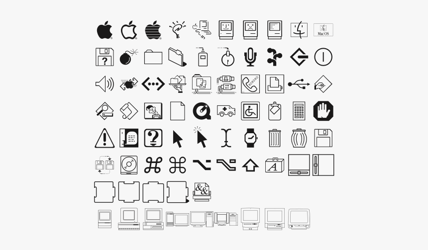 Old Mac Icons Download, HD Png Download, Free Download