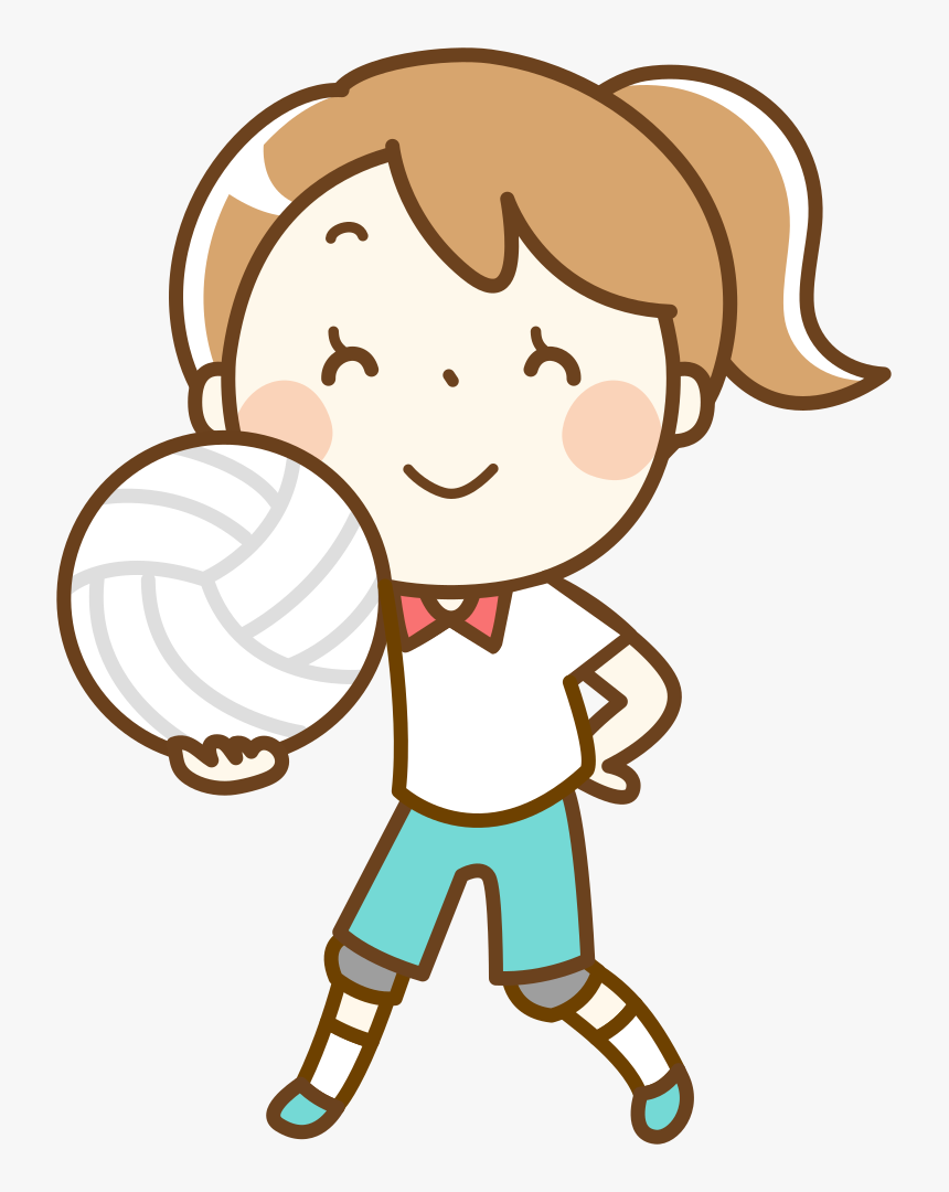 Volleyball Clip Person Black And White Library Cartoon Volleyball Player Drawing Hd Png Download Kindpng
