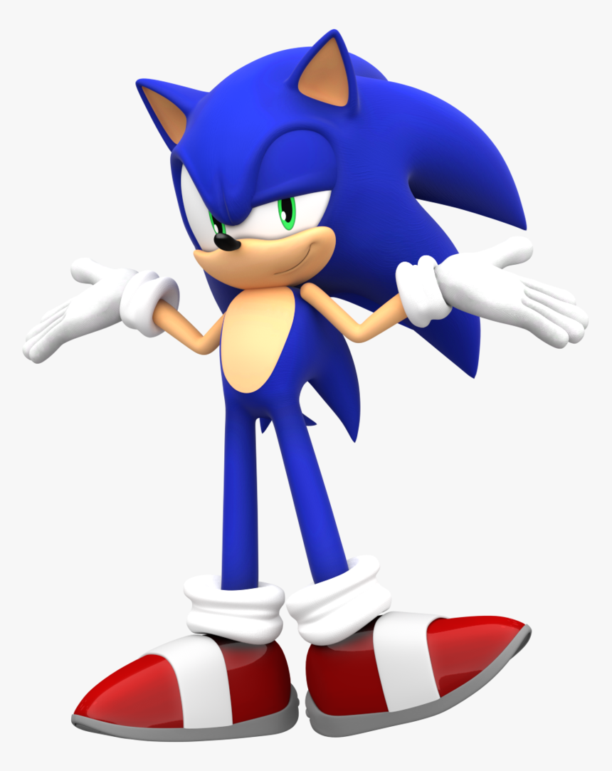 Smug Sonic Pose Sonic The Hedgehog 2d Hd Png Download Kindpng