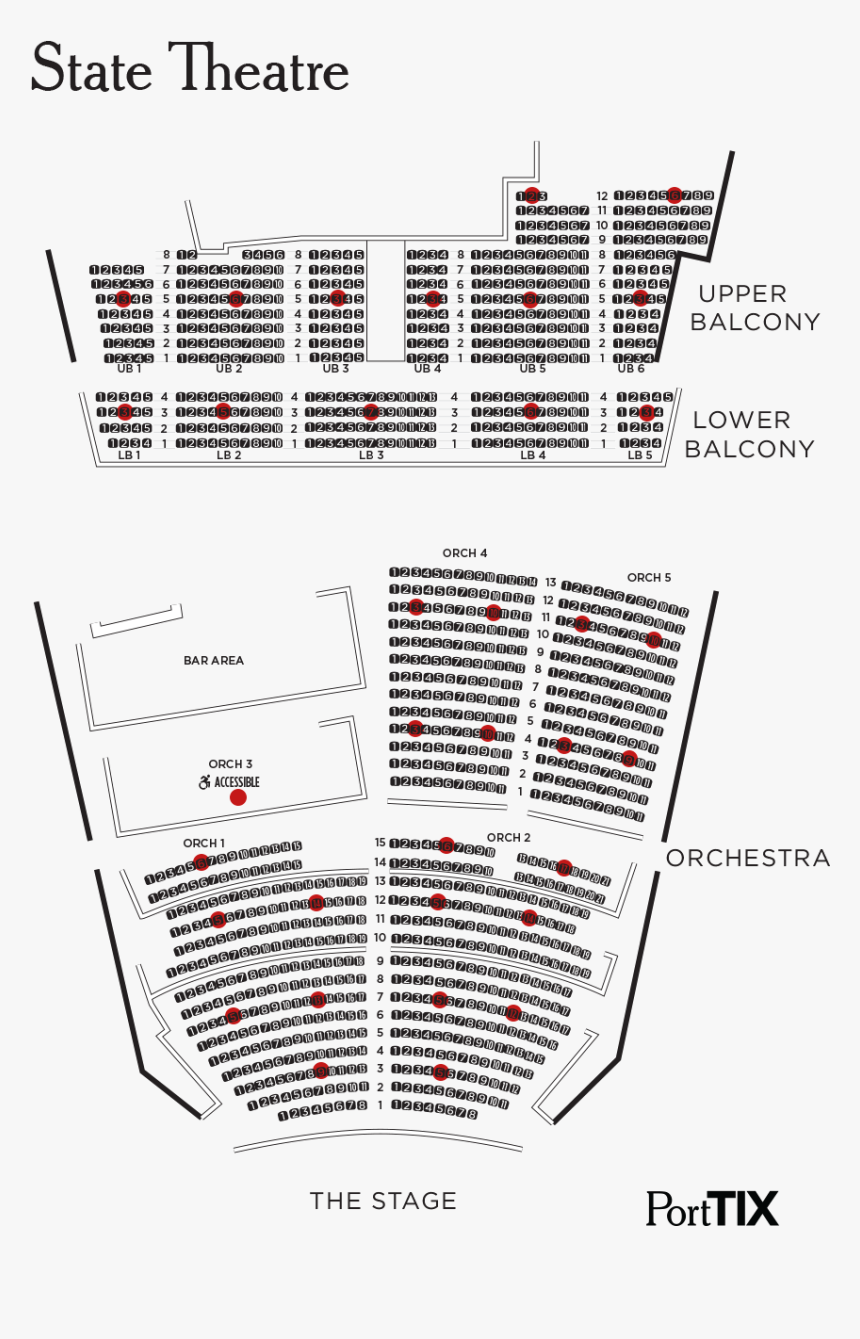 State Theater Portland Maine Seating Chart, HD Png Download, Free Download