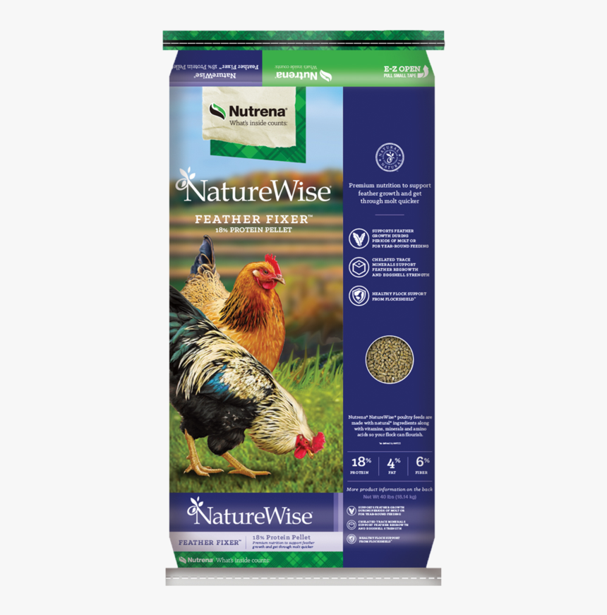 Naturewise Feather Fixer Poultry Feed - Nutrena Feather Fixer, HD Png Download, Free Download