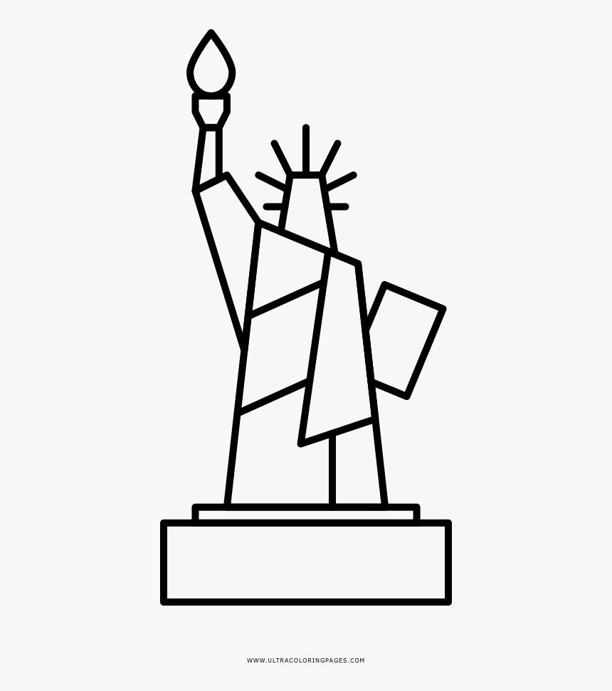 Estátua Da Liberdade Coloring Page - Statue Of Liberty Drawing Clip Art, HD Png Download, Free Download