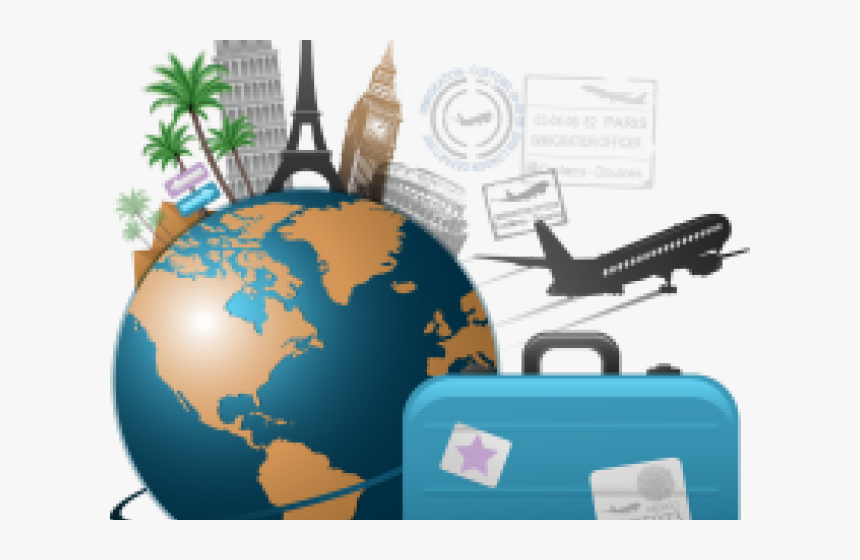Transparent World Travel Clipart Clipart Travelling Hd Png Download Kindpng