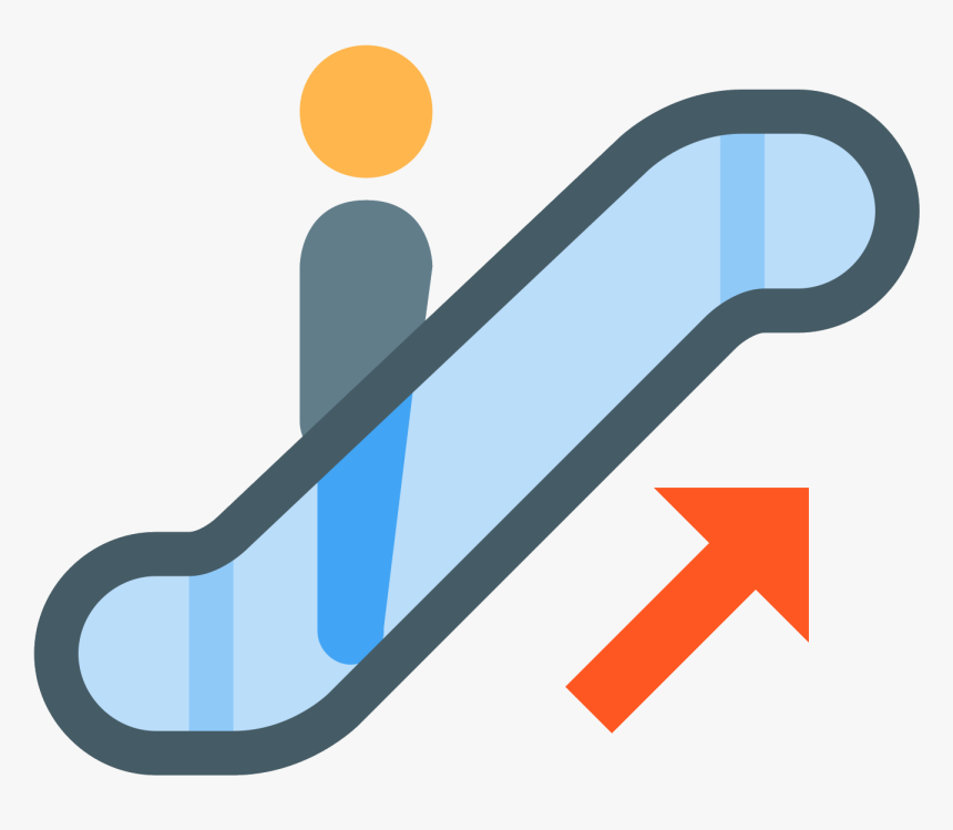 Escalator Up Icon - Escalator, HD Png Download, Free Download