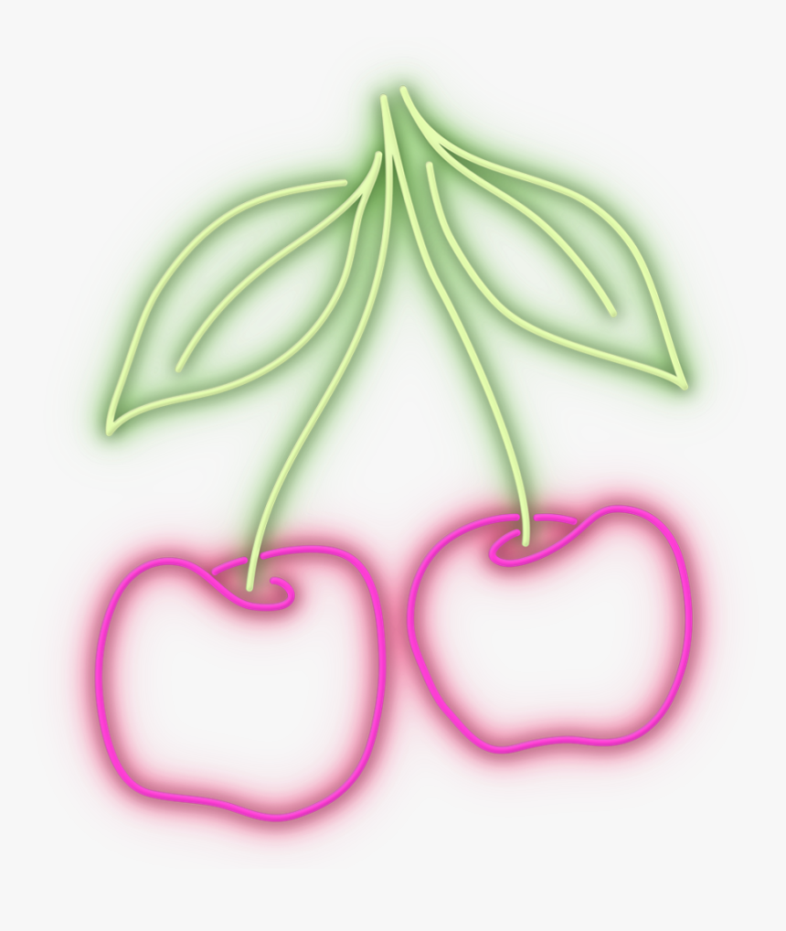 #cherry #cereza #neon - Cereza Neon Png, Transparent Png, Free Download