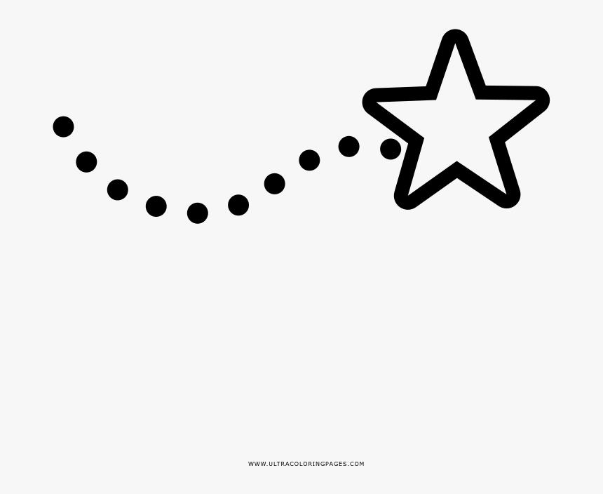Estrella-fugaz Página Para Colorear - Desenho Para Colorir De Estrelas Cadentes, HD Png Download, Free Download