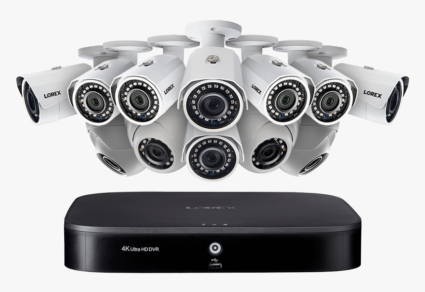 16-channel Security System With Twelve 1080p Hd Outdoor - Security, HD Png Download, Free Download