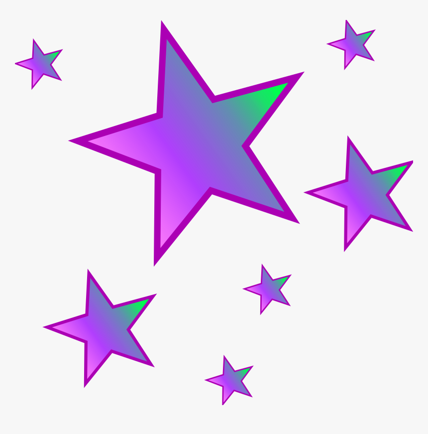 Purple,pink,star,clip Art,graphics,magenta - Stars Clipart, HD Png Download, Free Download