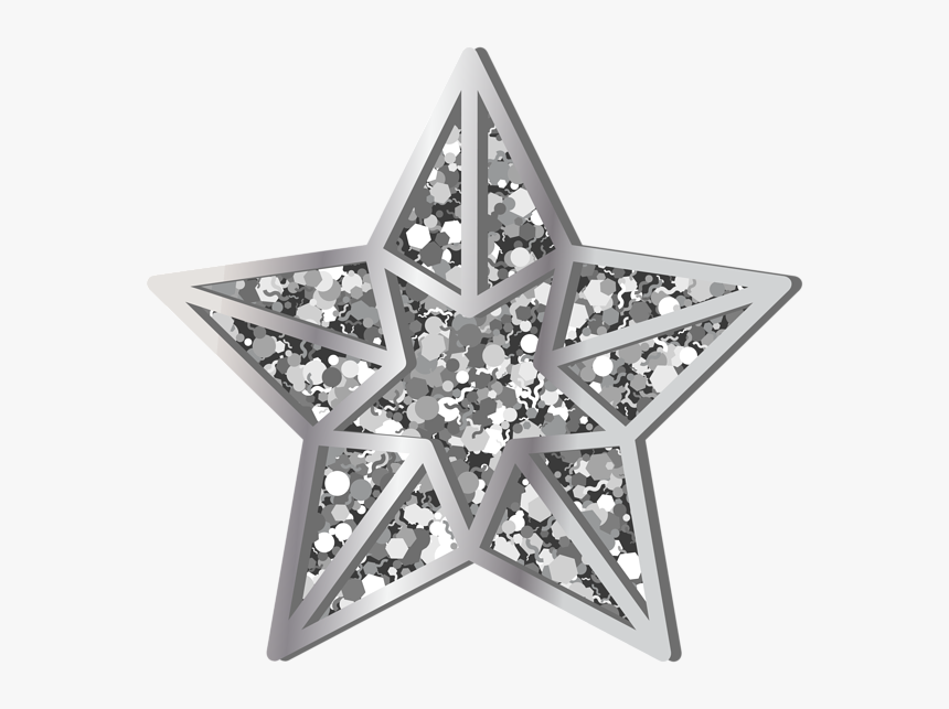 Silver Star Png, Transparent Png, Free Download