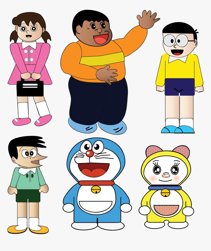 Doraemon And Friends Png - Clipart Of Doraemon, Transparent Png, Free Download