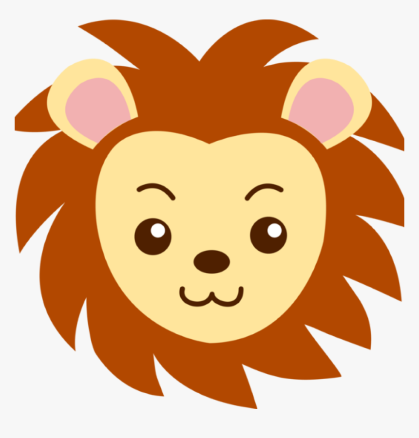 Cute Lion Clipart Lions Head Cute Clipart Music Clipart - Cartoon Lion Face Drawing, HD Png Download, Free Download