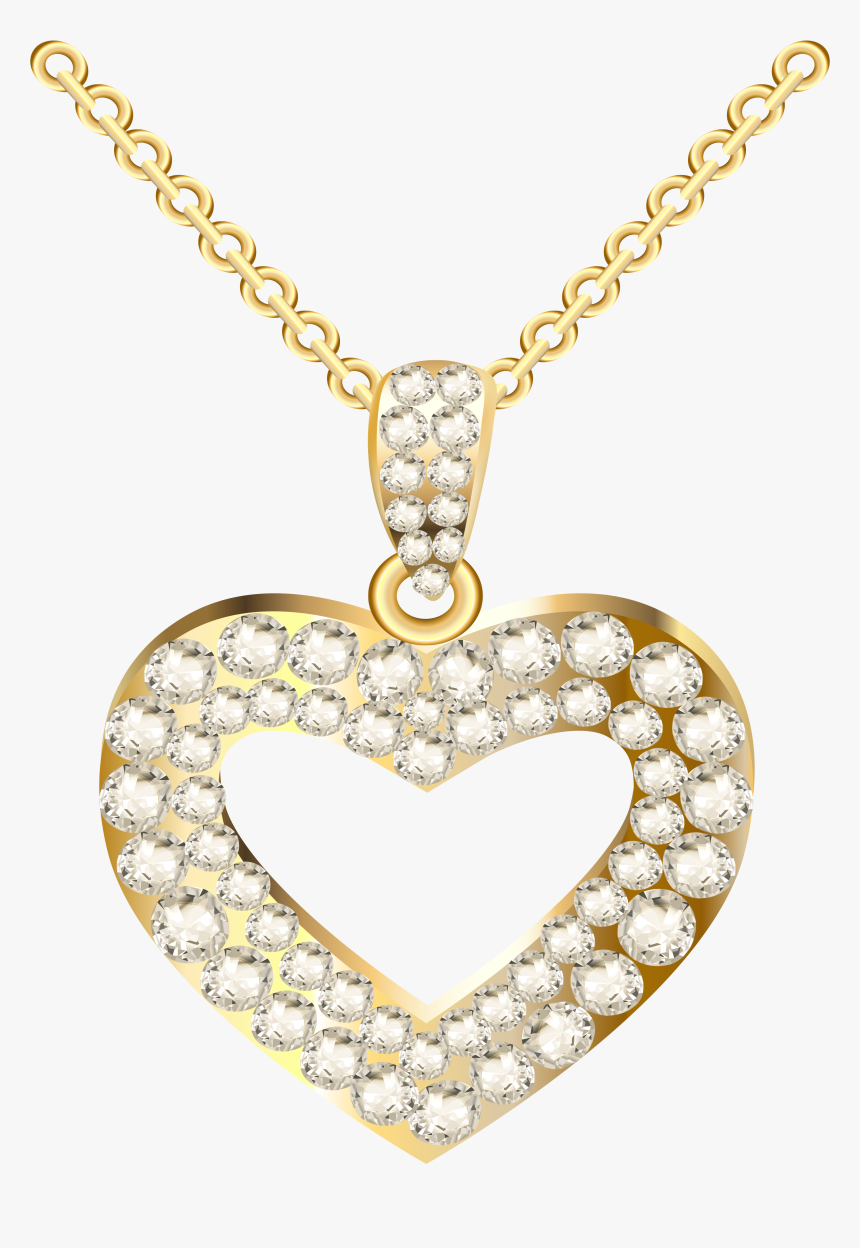 Diamond Necklace Clipart - Gold Diamond Necklace Png, Transparent Png, Free Download