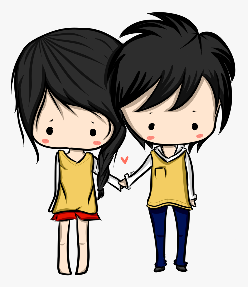 Anime Png Images Transparent Free Download Pngmart - Girl And Boy Drawing Chibi, Png Download, Free Download