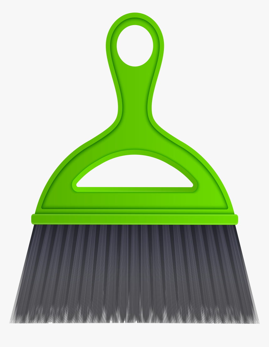 Green Desktop Sweep Cleaning Brush Png Clip Art, Transparent Png, Free Download