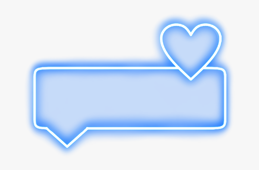 #neon #heart #rectangle#blue #bubble #text #word #frame - Neon Text Border Transparent, HD Png Download, Free Download