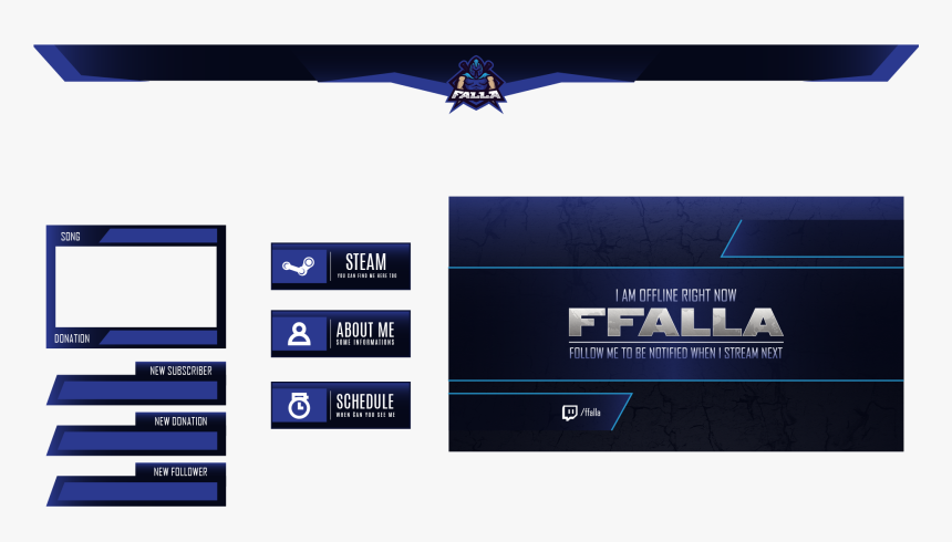 Ffalla Twitch Overlay - Parallel, HD Png Download, Free Download