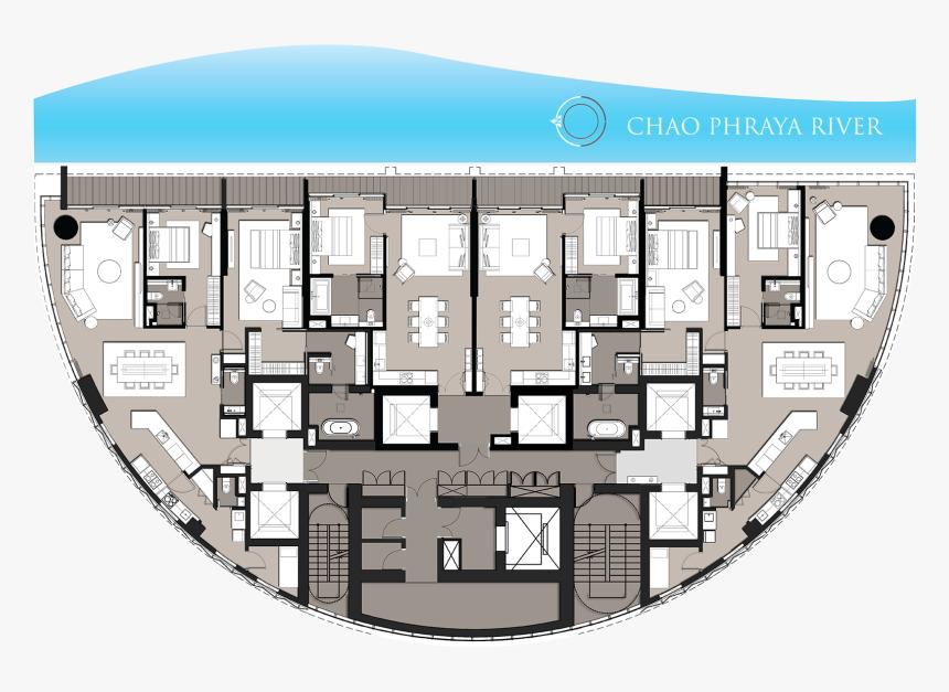 Banyan Tree Residence Riverside Bangkok Plan, HD Png Download, Free Download