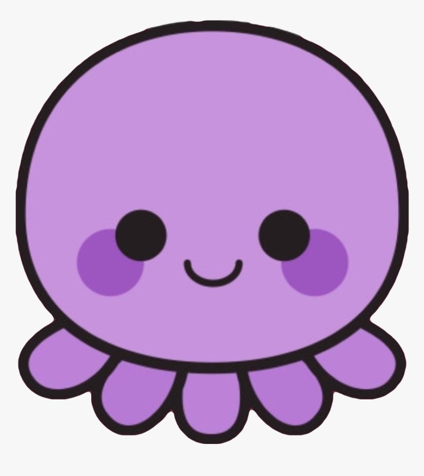 #kawaii #cute #octopus #squid #purple #sea #creature - Cartoon Cute Kawaii Octopus, HD Png Download, Free Download