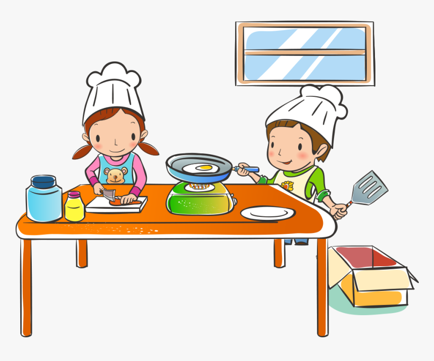 Transparent Kids In The Kitchen Clipart - Industrias Alimentarias Dibujos Animados, HD Png Download, Free Download
