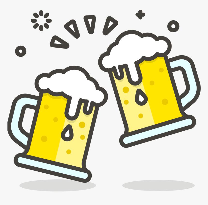 Cartoon Beer Mugs Clinking, HD Png Download, Free Download