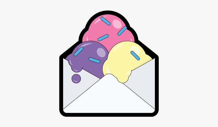 Email With Sprinkles Emailgeeks Sticker Envelope Sprinkles - Cartoon, HD Png Download, Free Download