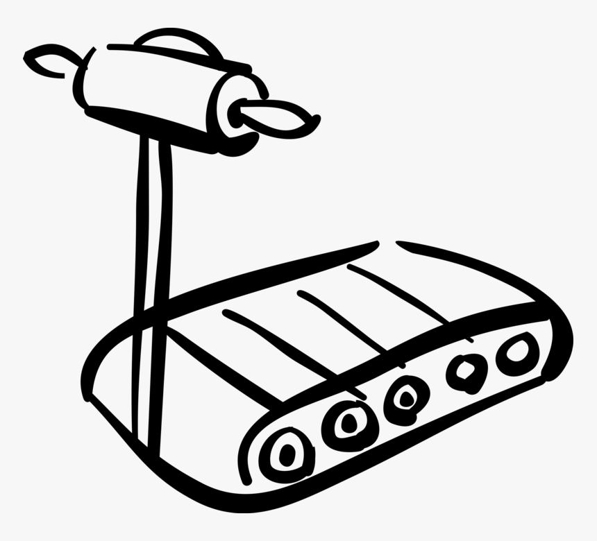 """Vector Illustration Of Runner""""s Treadmill For Fitness, HD Png Download, Free Download"""
