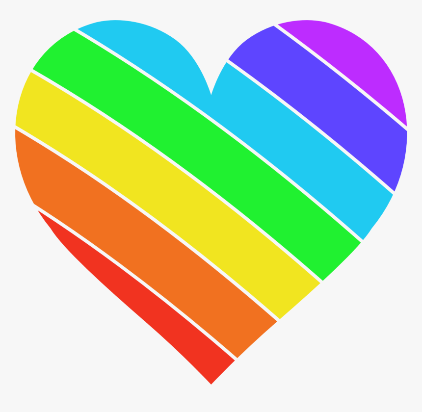 Rainbow Heart Color - Transparent Background Rainbow Heart, HD Png Download, Free Download