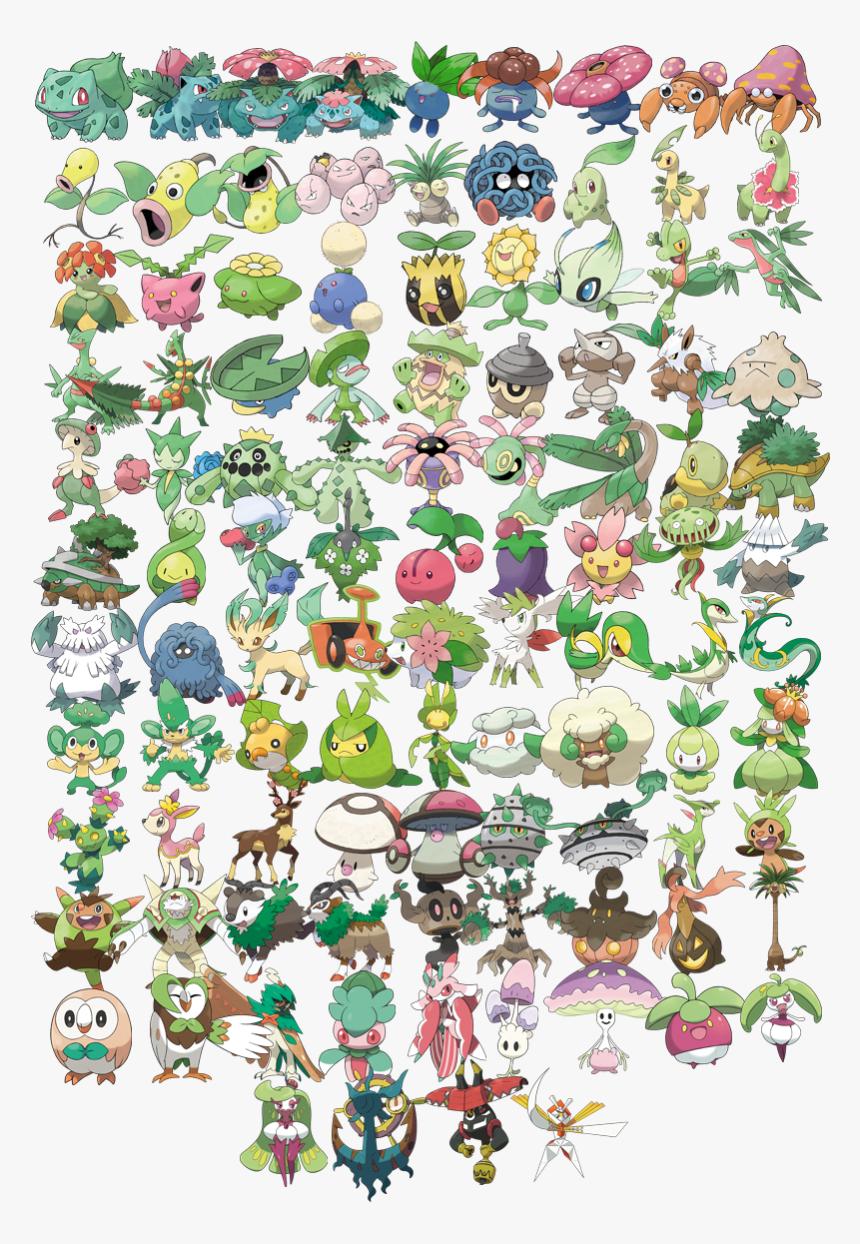 Image - Plant Type Pokemon, HD Png Download, Free Download