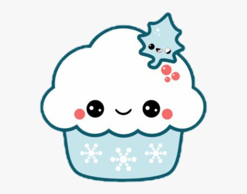 Cute Cutecupcake Stars Blue Glitch Tumblr Png Download Cute Christmas Cupcake Cartoon Transparent Png Kindpng