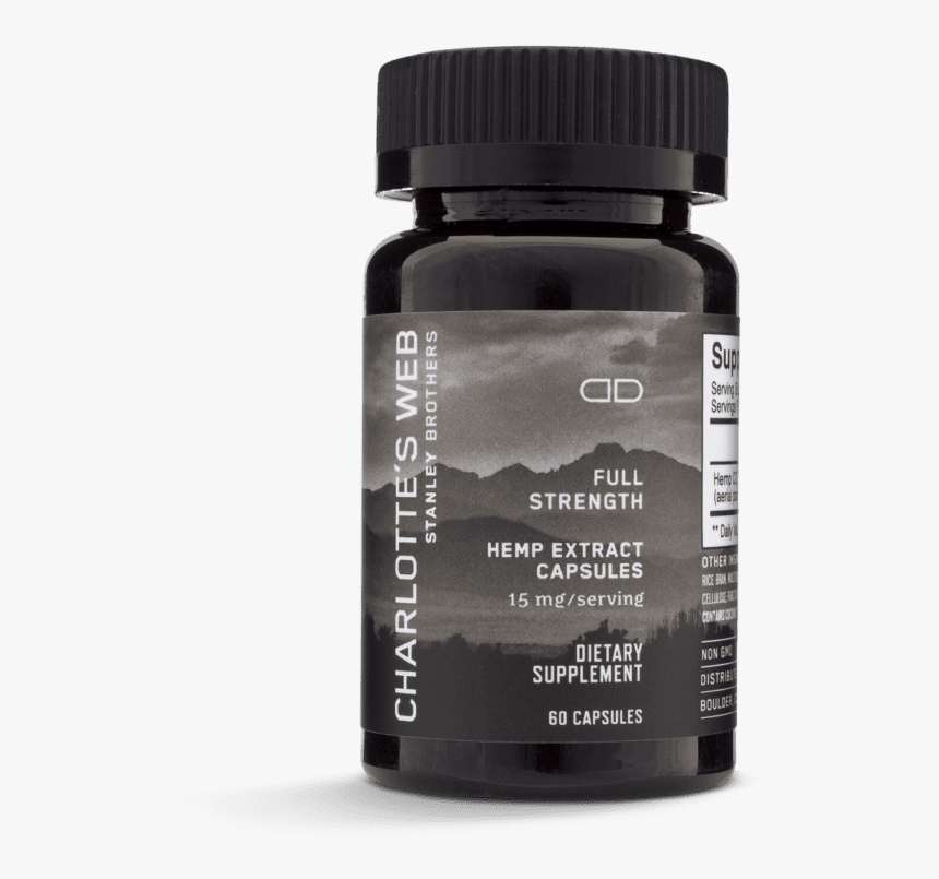 Charlotte's Web Full Strength Hemp Extract Capsules - Charlotte's Web Hemp Extract Capsules, HD Png Download, Free Download