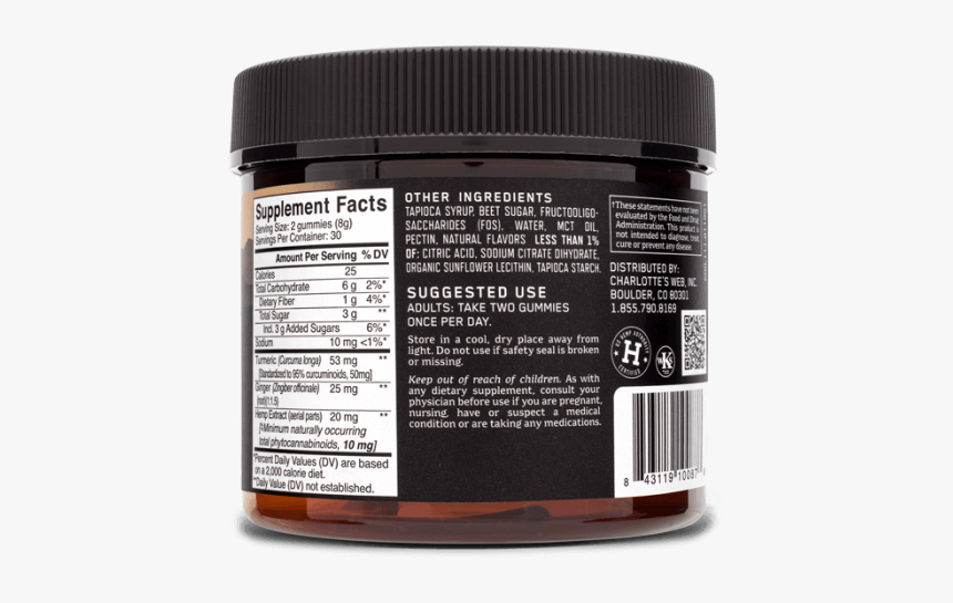 Charlotte's Web Gummies Label, HD Png Download, Free Download